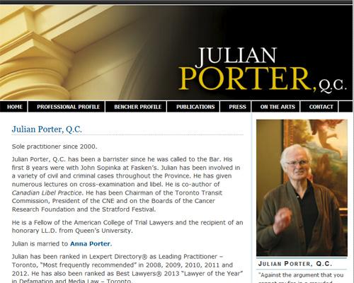 Julian Porter, QC