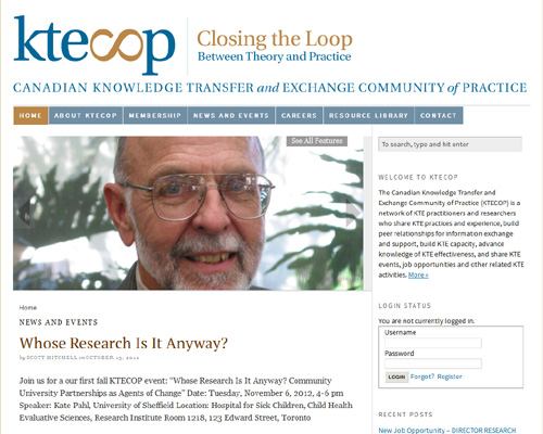 Canadian Knowledge Transfer and Exchange Community of Practice